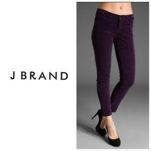 J BRAND Purple Corduroy Skinny Jeans